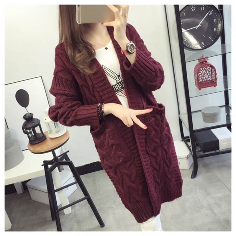 2020 Cardigan For Women Long Slim Knitted Basic Sweater Female Woman Sweaters Autumn Pull Femme