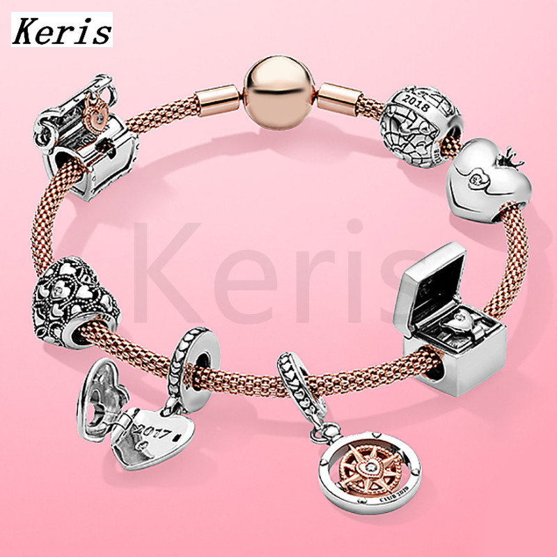 The New 2020 100%925 Sterling Silver Treasure Box DIY Charm Pendant Bracelet Is Free Of Charge