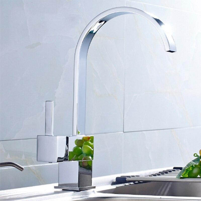 Robinet de cuisine cuivre eau chaude et froide mitigeur 360 degrés Rotation pont monté robinet évier robinet salle de bain bassin robinet