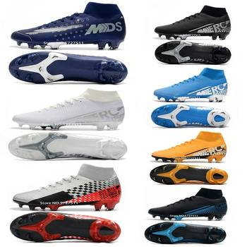 Free shipping 2020 mens  soccer shoes FG soccer cleats outdoor football boots Studs for Football shoes Training shoes puma powercat 1 12 sl firm ground fg mens soccer cleats