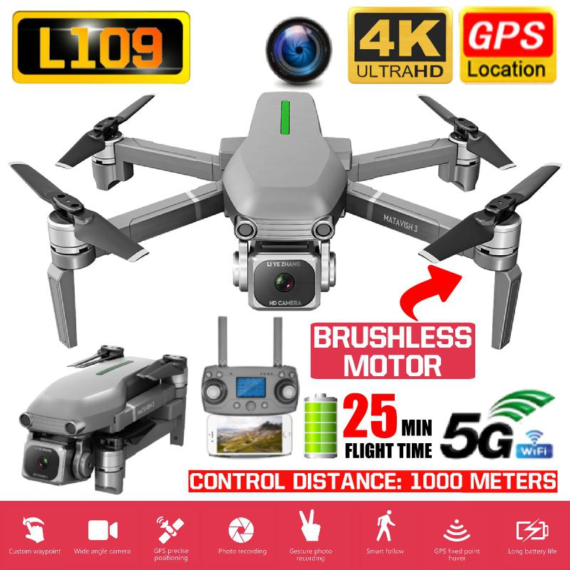 L109/L109-S1 RC Drone GPS 4K HD Camera 5G WIFI FPV Foldable Selfie Drones Professional 1000m Long Distance RC Quadcopter
