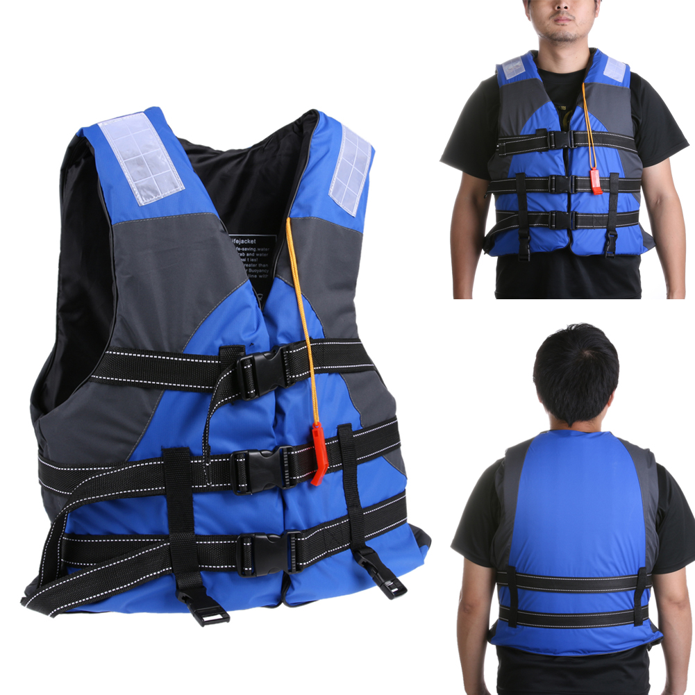 Polyester Adult Life Vest Jacket Swimming Boating Ski Drifting Life Vest With Whistle Water Sports Man Jacket