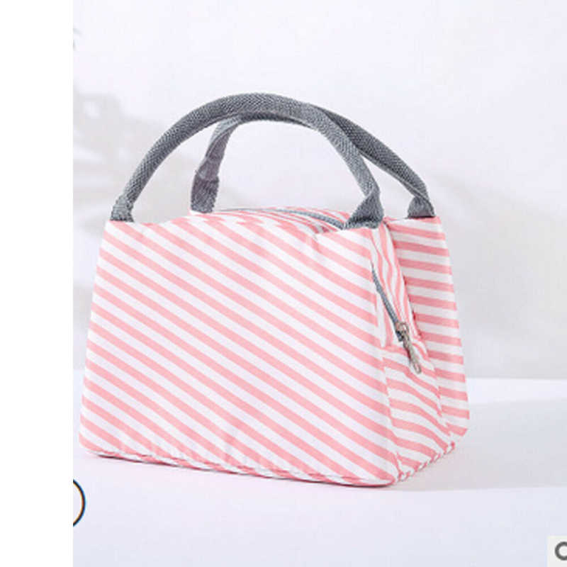 Portable Insulated Canvas Lunch Bag Thermal Food Picnic Lunch Bags For Women Kids Men Print Lunch Box Bag Tote