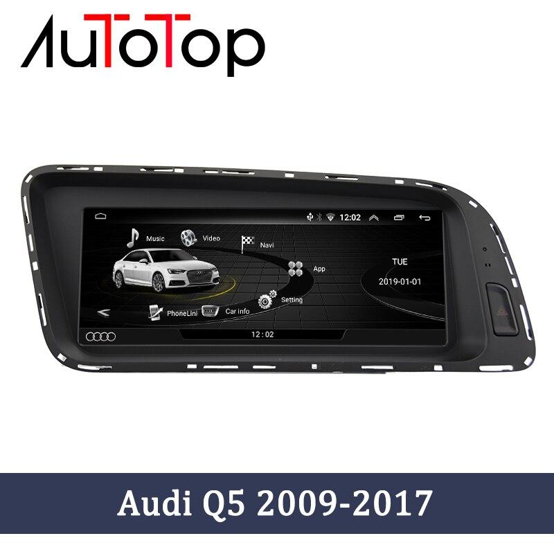 """Autotop 8.8 """"android 10 unidade de cabeça do carro navegação gps para audi q5 2009-2016 rádio estéreo multimídia volante do jogador"""