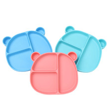 Baby Feeding Silicone Plate Cute Cartoon Bear Food Grade Children Bowl BPA Free Tableware Kid Lunch Food Container Dishes CL5686(China)