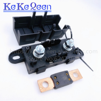 1 Uds ANM-H3 MEGA fusible automático titular/ANM Bolt-portafusibles de cuchilla plana tipo fusible 50A 60A 70A 80A 100A 125A 175A 200A 225A -500A 2
