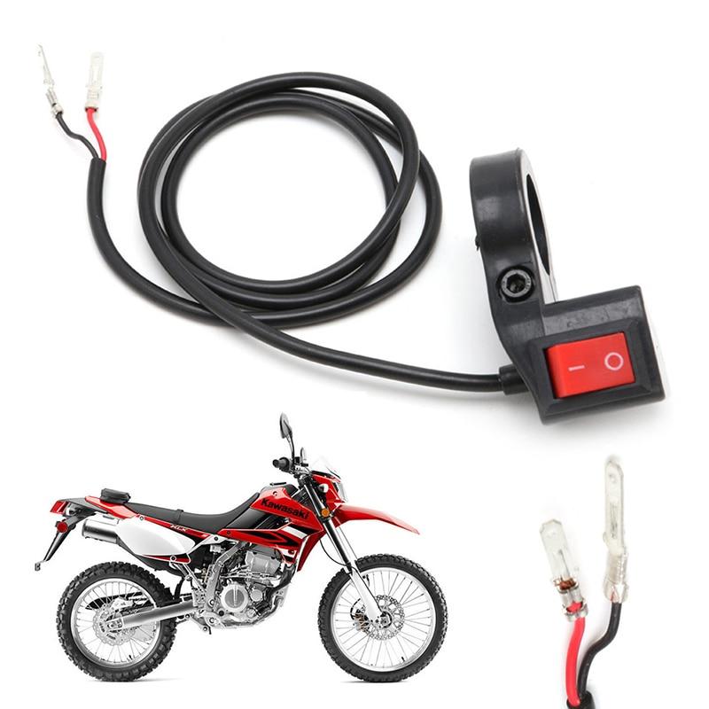 New 7/8'' Motorcycle Bike Scooter Handlebar ON-OFF Head Fog Spot Light Switch Q9QD
