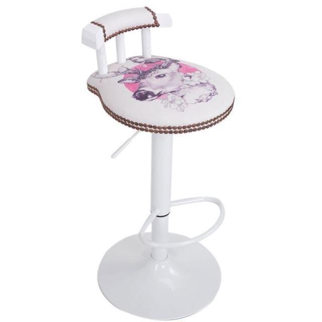European Solid Wood Bar Chair, Bar Chair, Retro American Bar Chair, Modern Simple High Stool, Cash Register, Rotary Bar Stool