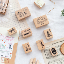Spring-Series Scrapbooking Stamp Stationery Wooden for DIY 8pcs/Lot