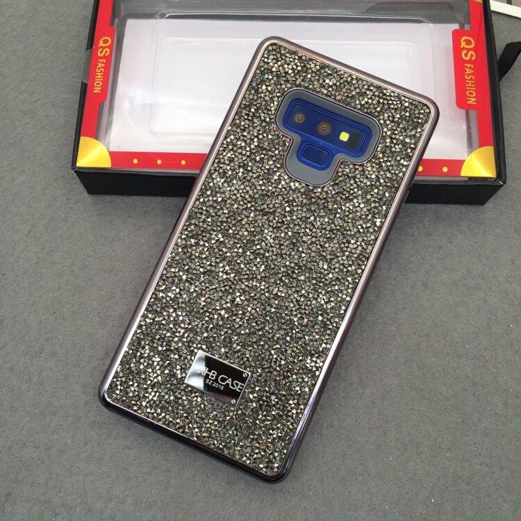 Blinking Rhinestone Case For Samsung Galaxy S8 S9 S10 Note10 Plus Note9 2 In 1 Diamond Glitter Women Back Cover Case, MYL-1V2