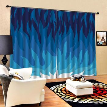 blue curtains flower curtains Window Blackout Luxury 3D Curtains set For Bed room Living room Office Hotel Home Wall Decorative