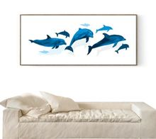 Современный минималистичный маленький свежий дельфин декоративная