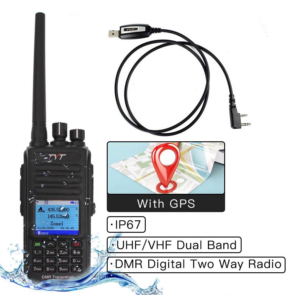 TYT MD-UV390 Walkie Talkie IP67, MD-380 de Radio de banda Dual a prueba de agua VHF UHF Digital DMR, Radio de dos vías, doble horario, transceptor Dlot 433MHz LoRa RS232 RS485 módem DTU de larga distancia 2km 17dBm transmisor inalámbrico módulo Digital MEC PLC receptor