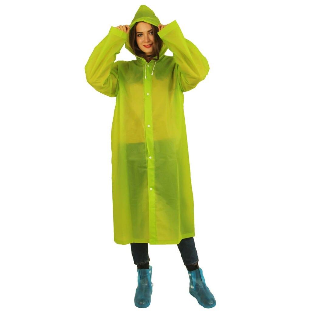 New Reusable protective Blouse Hooded Top Raincoat Prevents Splashing Body Portable rain coat Camping Hoodie Rainwear Suit(China)