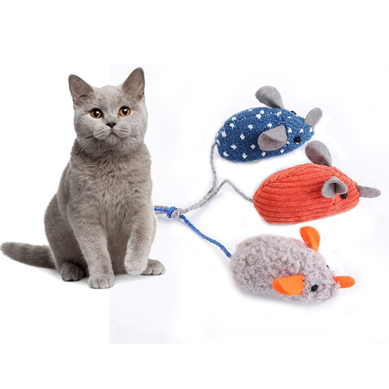 Simulation Plush Mouse Toy With Tail For Cats Pet Interactive Toy Teaser Kitten Supplies Puppy Playing Exercise Supplies Pet Toy 14