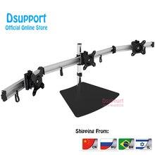 Aluminum Alloy Desktop Stand Triple Monitor Holder Full Motion TV Mount loading 8kgs each head