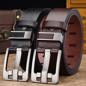 Image 4 - [Dwts] Mannen Riem Mannelijke Hoge Kwaliteit Lederen Riem Mannen Mannelijke Lederen Band Luxe Pin Gesp Fancy Vintage jeans Gratis Verzending