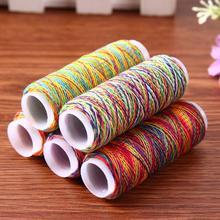5 шт. радужные цветные нитки для шитья, Ручное шитье, нитки для шитья, Полиэстеровые нитки для ручной шитья, аксессуары для шитья своими руками