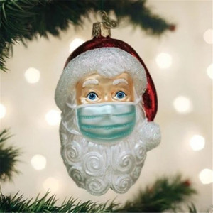 30# 2020 DIY Quarantine Christmas Quarantine Decorate Santa Claus Quarantine Personalized Hanging Pendants Santa Claus Ornament