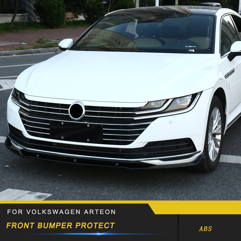 For VW Volkswagen Arteon 2019 Car Styling Front Bumper Fender Protector Cover Trim Frame Pad Board Exterior Parts