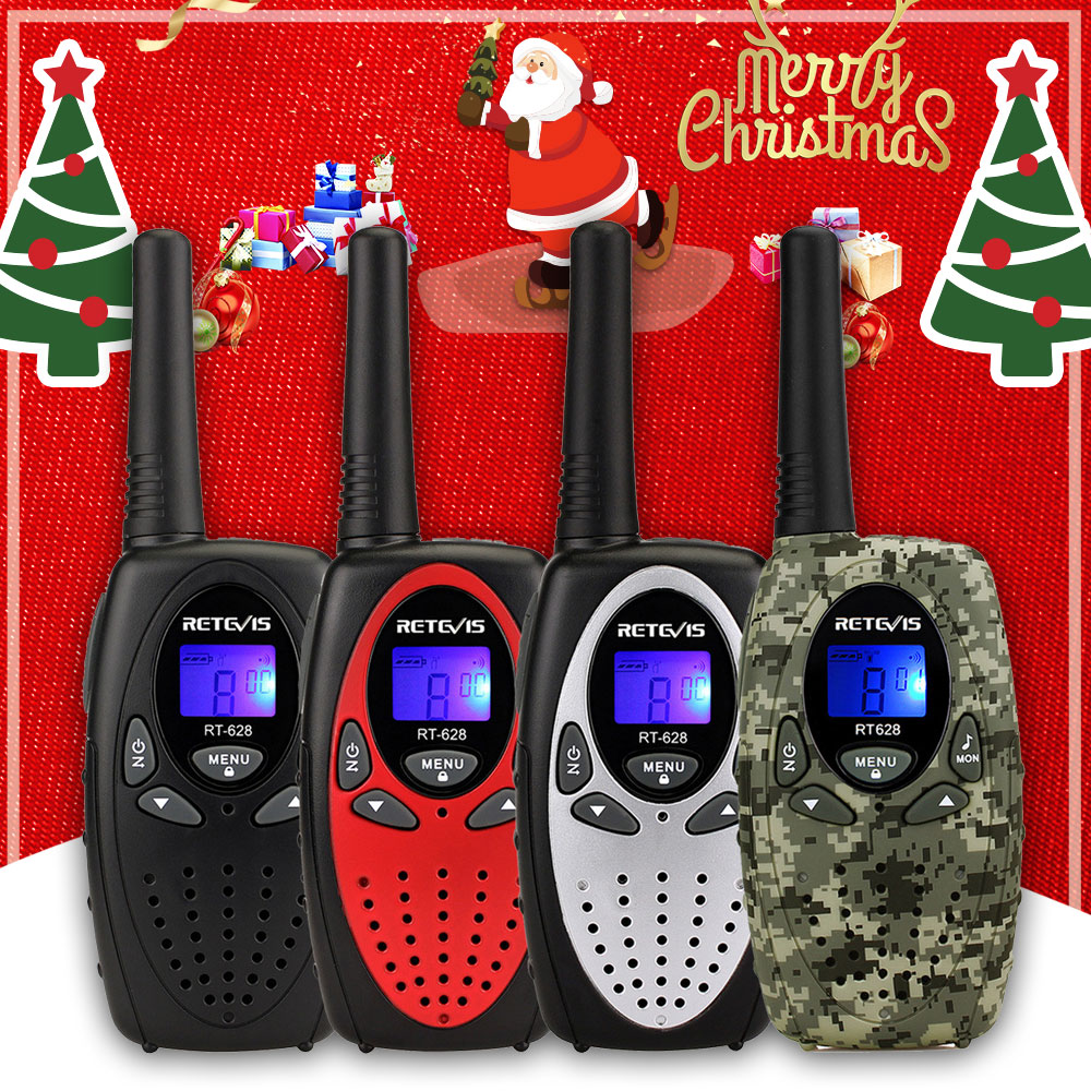 2pcs RETEVIS RT628 Mini Walkie Talkie Kids PMR Radio 4Colors 0.5W PMR PMR446 FRS VOX 2 Way Radio Christmas Gift Toy Walk Talk