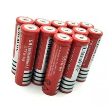 10PCS 18650 6800mAh 3.7vRechargeable Battery Lithium Li-ion Bateria For Flashlight