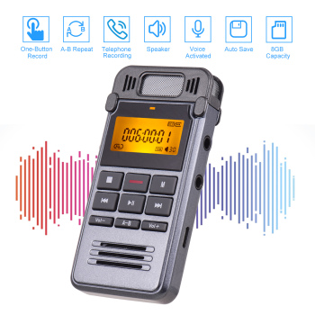 One-Button Recording Voice-Activated Support Recording  1