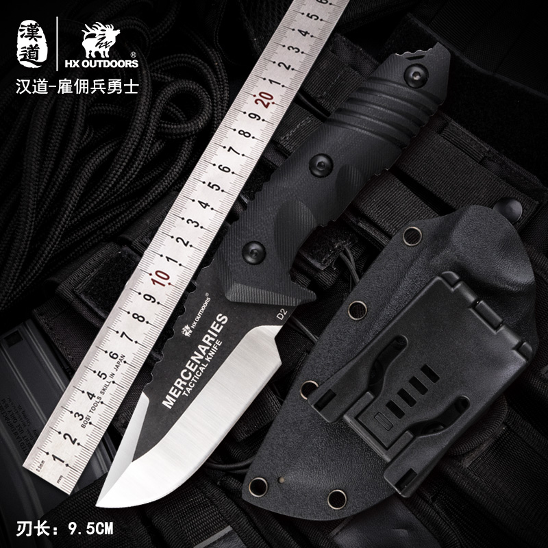 HX OUTDOORS D-169 warrior mercenaries tactical straight knife outdoor survival D2 blade Knife Bushcraft Military Fixed Knife image