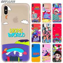 Soft สำหรับ iPhone 11 PRO MAX X XS MAX XR สำหรับ iPhone 5 5S SE 6S 6 4 4S 7 8 PLUS Bangtan Boys Hope World กรณี(China)