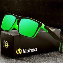 Viahda 2020 yeni polarize güneş gözlüğü spor güneş gözlükleri balıkçılık gözlükler De Sol Masculino kutusu ile