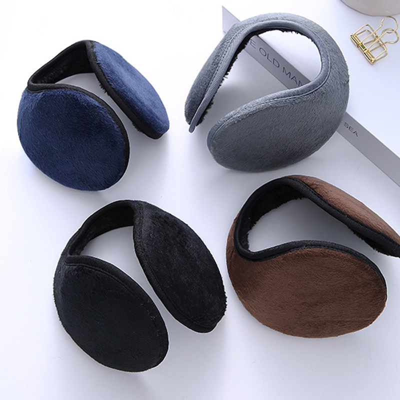 New Fashion Korean Winter Solid Color Fashion Men's Earmuffs Thickened Earmuffs Earmuffs Women's Warm Earmuffs