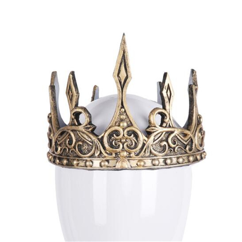 Hot New Middle Ages Vintage Old King Crown Cosplay Costumes Props Headwear Antique Silver Golden