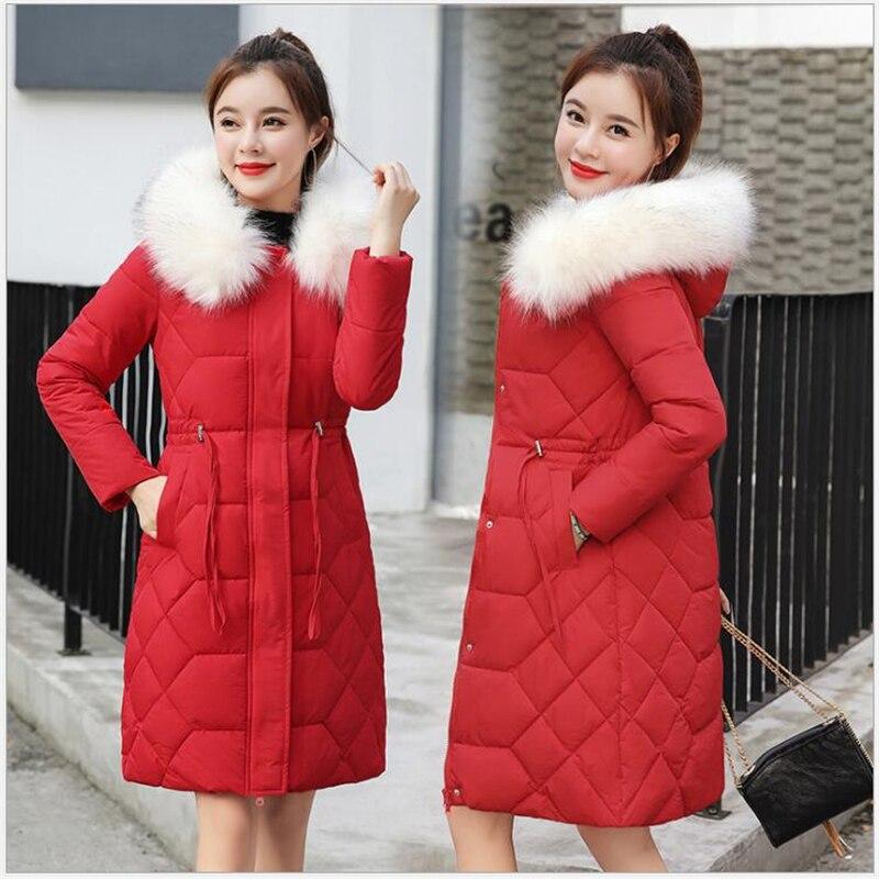 2019 New Arrival Winter Jacket Women Hooded Women coat Winter Outwear Long Slim Female Coat   Parka   jaqueta feminina Z72