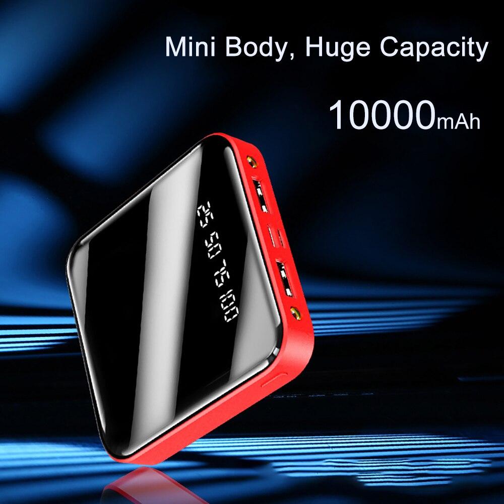 PINZHENG Mini Portable 10000mAh Power Bank For Xiaomi Mi With LED Digital Display 3
