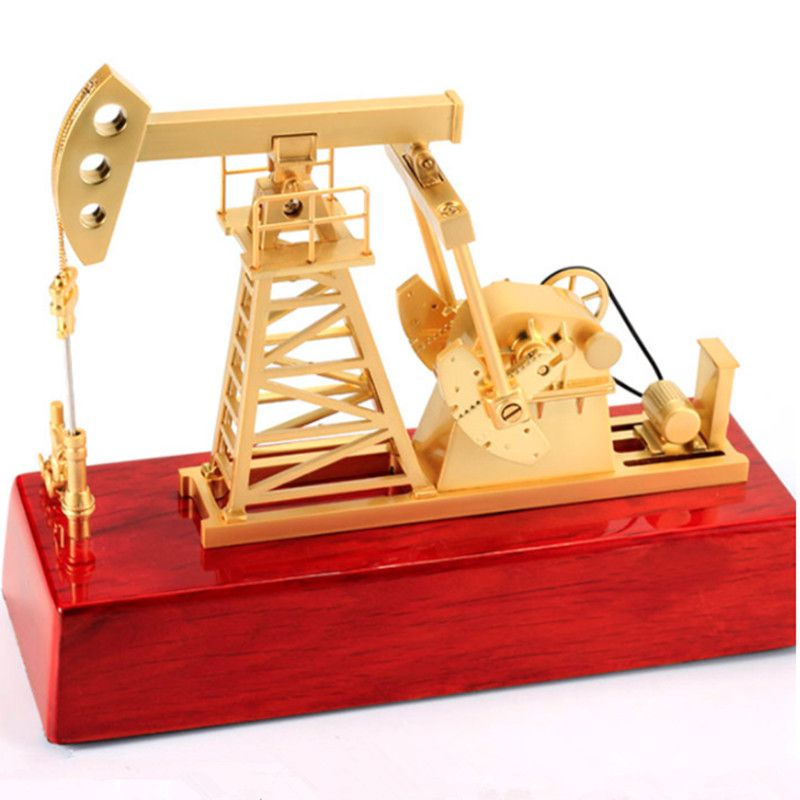 Medium Oil Machine Machine Metal Oilfield Oil Extractor Pumping Unit Model Metal Decoration Gift