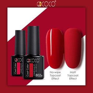 Гель-лак GDCOCO, 8 мл, 50 цветов, УФ-гель для маникюра и самостоятельного дизайна ногтей с базой и защитным матовым покрытием