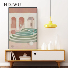 Modern Simple Art Home Canvas Painting Wall Picture Geometric Space Printing Poster for Living Room  DJ665