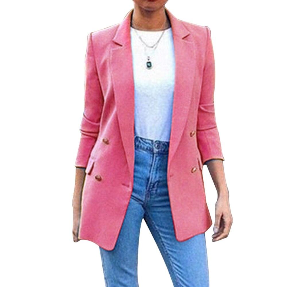 2020 New Fashion Suit Jacket Women's Suit Jacket Long Coat Office Lady Lapel Jacket Casual Jacket Women's Suit Jacket Jacket