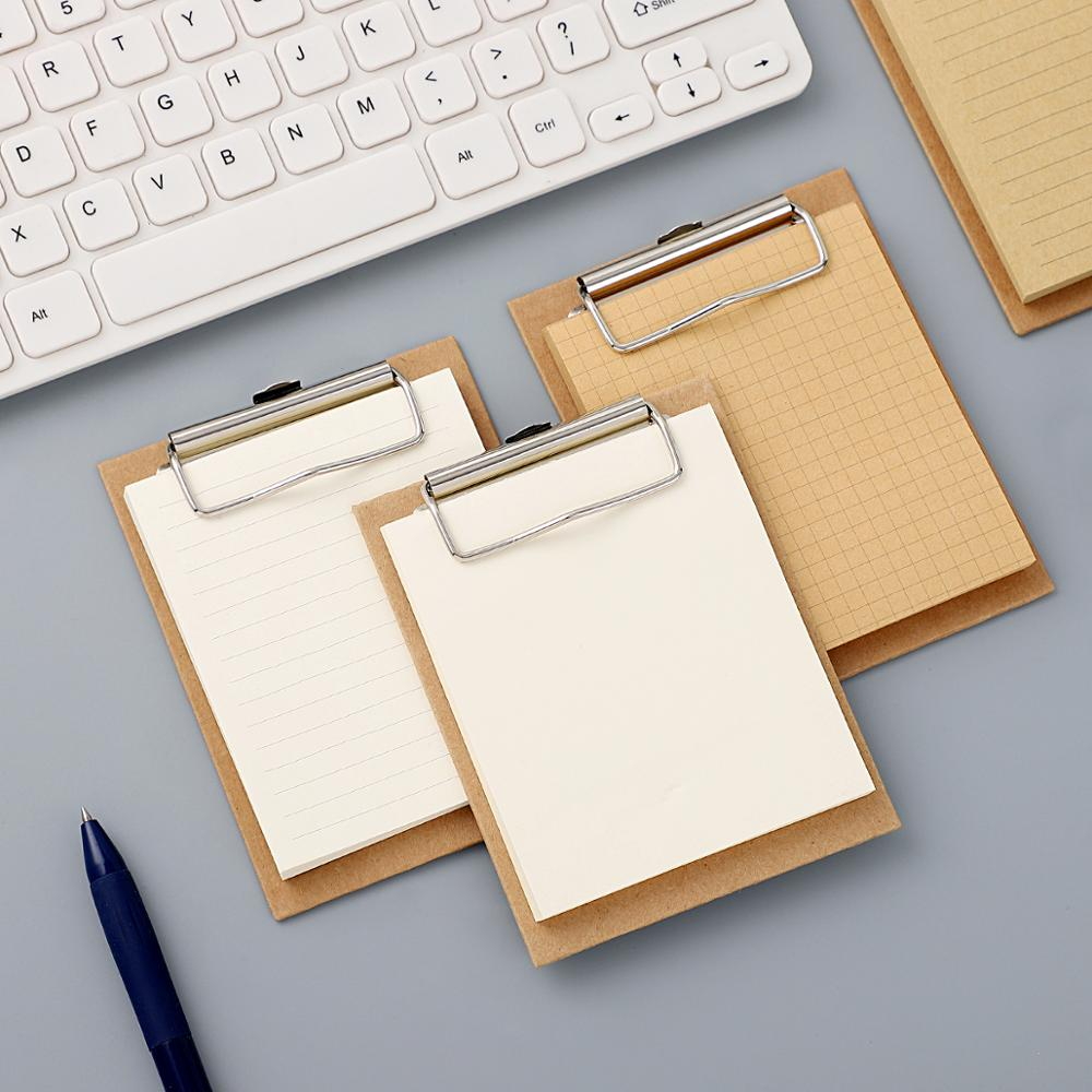 Board Clip Note Mini Clipboard Memo Pads Basic Color Notebook Printed Simple Note Pad Clip School Supplies Kawaii