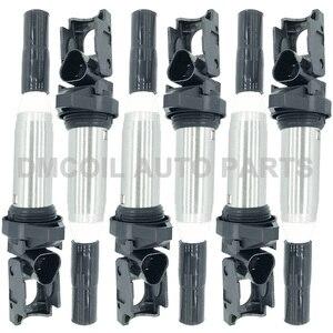 Image 1 - 6 PCS איכות מקורית סליל הצתה עבור BMW 1 2 3 5 6 7 X3 X5 X6 Z4 ALPINA B6 b7 2.0L 3.0L 4.4L (2004 ) 12138616153 12138611236