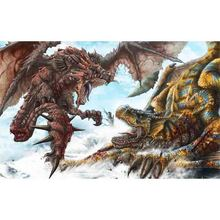 Large Monster Hunter World Gaming Mouse Pad PC Online Games Action Figure ICE Borne Playmat Board Game Mousepad tecknet gaming office mouse pad mat ergonomic mousepad build in soft sponge with gel rest wrist support