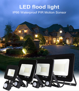 10W 20W 30W 50W 100w 150w 200w garden search Wall lamp led flood light outdoor projector Landscape PIR Motion sensor light AC220 image