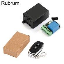 Rubrum interruptor de controle remoto universal, 433 mhz, sem fio, módulo de receptor e relé 1ch de 12v dc, transmissor rf 433 mhz controles