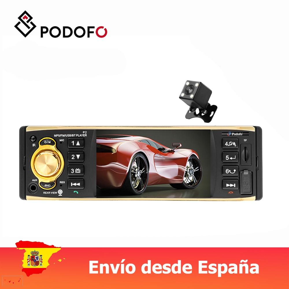 Podofo VEUR 1 din автомагнитола 4 ''TFT экран MP3 Автомагнитола стерео Bluetooth пульт дистанционного управления USB FM Авторадио мультимедийный плеер