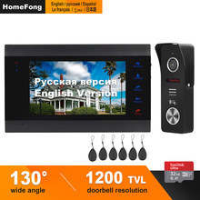 HomeFong видеодомофон для квартиры 1200TVL 130 градусов Поддержка обнаружения движения запись Электрический замок CCTV камера для домашнего домофона