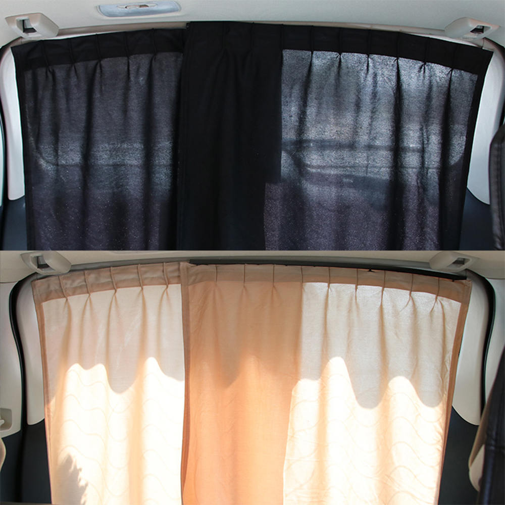 2Pcs Universal Luxury VIP Car Van SUV Window Curtain UV Sunshade Visor Kit Rear Window Sunshade Car Accessories-in Side Window Sunshades from Automobiles & Motorcycles