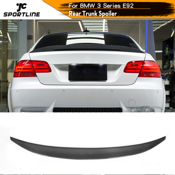 Carbon Fiber / FRP Car Rear Spoiler Wing Trunk Lip for BMW E92 Spoiler 3 Series 325 328 335 M3 Coupe 2005 - 2011 image