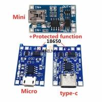 1 pz 5V 1A Micro USB 18650 tipo-c batteria al litio scheda di ricarica modulo caricabatterie protezione doppia funzione TP4056 18650