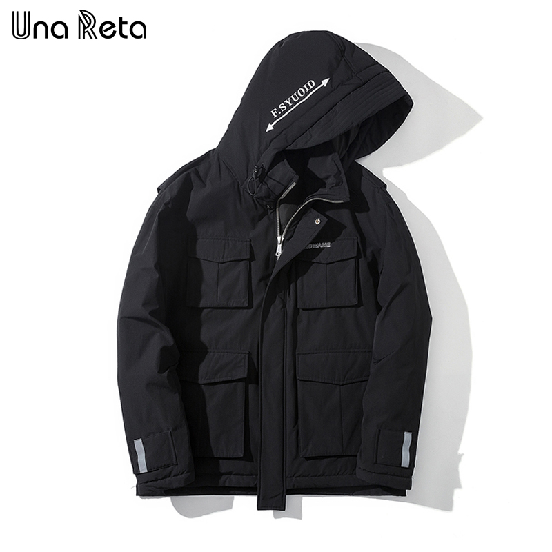 Mens Cotton Blend Medium-Long Long Sleeve Coat Jacket Loose Zipper Lined with Velvet Warm Casual Hooded Tracksuit