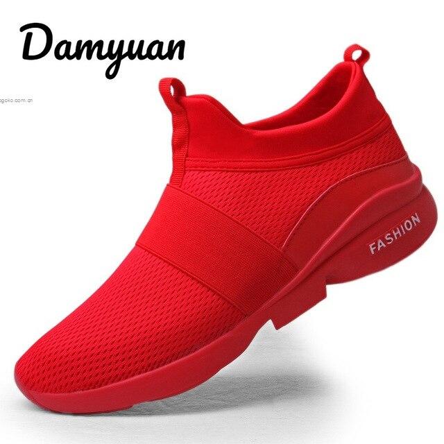 Damyuan 2019 ใหม่แฟชั่นรองเท้าคลาสสิกรองเท้าผู้ชายผู้หญิง Flyweather สบาย Breathable Non-หนังรองเท้าสบายๆน้ำหนักเ...